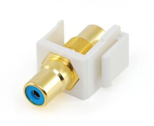 RCA Panel Mount Blue Coupler