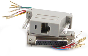 RJ45 to DB25F Modular Adapter
