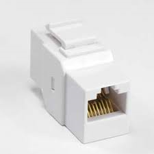 Cat5e keystone coupler white