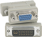 DVI A Male - HD15 Female VGA Adapter