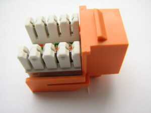 Cat6 Keystone Jack Orange