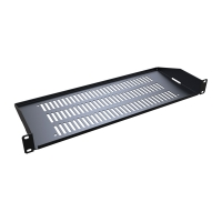 RASV190107UBK1 Hammond 1U Rail Mount Vented shelf