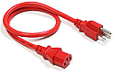 10FT RED CPU POWER CORD (NEMA 5-15P/IEC320 C13) HEAVY JACKET SJT