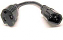 1FT NEMA TO IEC POWER ADAPTER (NEMA 5-15R/IEC320 C14) 14AWG