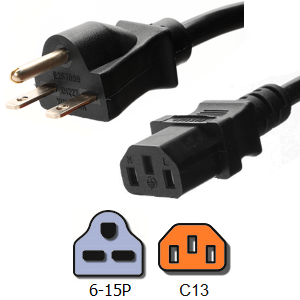 Power cable 6-15p C13