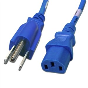 6FT 5-15P TO C13 POWER CABLE 14AWG (15A 125V)SJT - Blue