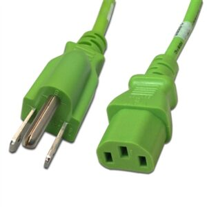 6FT 5-15P TO C13 POWER CABLE 14AWG (15A 125V)SJT - Green