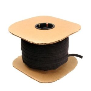 12 inch Die Cut Velcro Tie Wrap -450pc Spool Black
