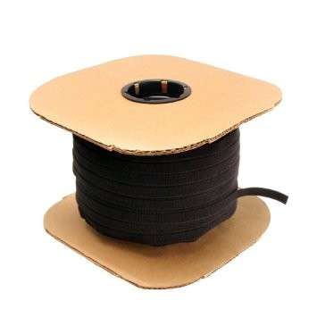 12 inch Die Cut Velcro Tie Wrap -450pc Spool Black