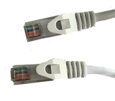 White Cat6 Molded Snagless cable.