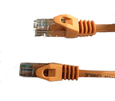 Orange Cat6 Molded Snagless cable.