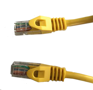 Yellow Cat5e Molded Snagless cable.
