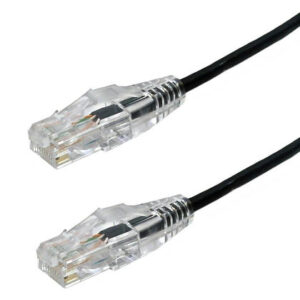 Ultra thin cat6a Patch cables black