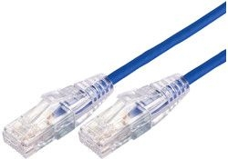 Cat6a UTP 10gig Ultra Thin Patch Cable Blue