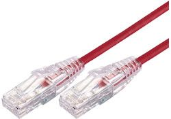 Ultra thin patch cables red