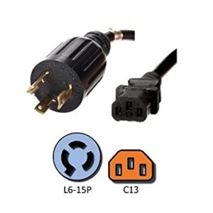 L6-15P to C13 / C15 Power Cables